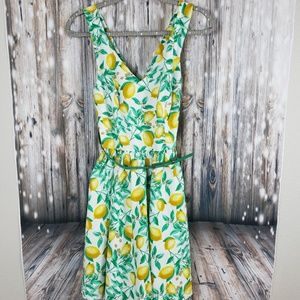Elle Lemons Sun Dress size 8 pin up style yellow